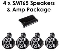 4 Samson SMT65 Speakers & Amp Package