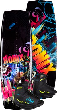 Ronix Vision Wakeboard with Vision Boot Boys (2012)