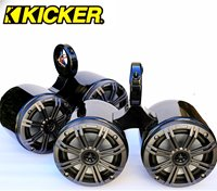 Kicker Twin KM654CW Tower Speakers (black or polished)