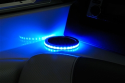 LED Cupholder Ring w/ Stainless Steel Cupholder