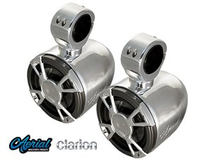 Bullet Clarion Tower Speakers w/ Built in LED (polished or black)