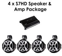 4 S7HD Tower Speakers & Amp Package